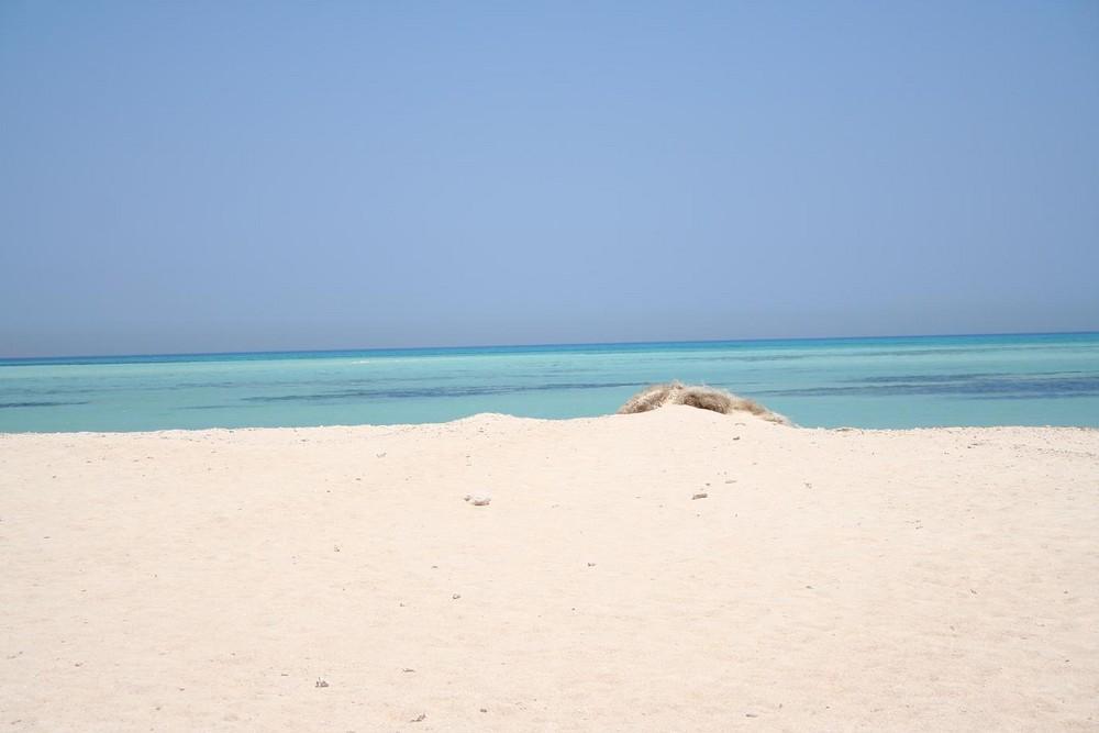 einsame Insel in Ägypten