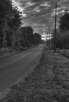 Einsame Landstraße