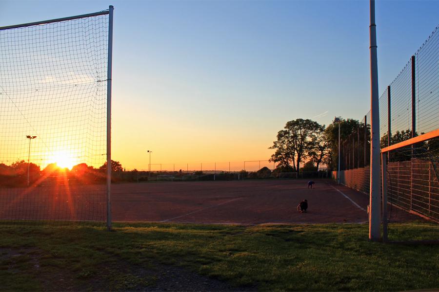 Einsame Sportler