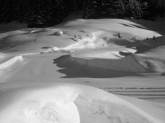 einsame spuren im schnnee