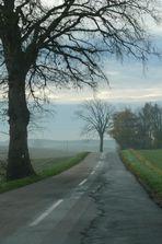 einsame Straße in Dänemark