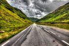 Einsame Straße in Norwegen