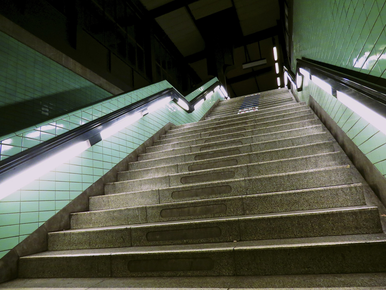 ...einsame Treppe.
