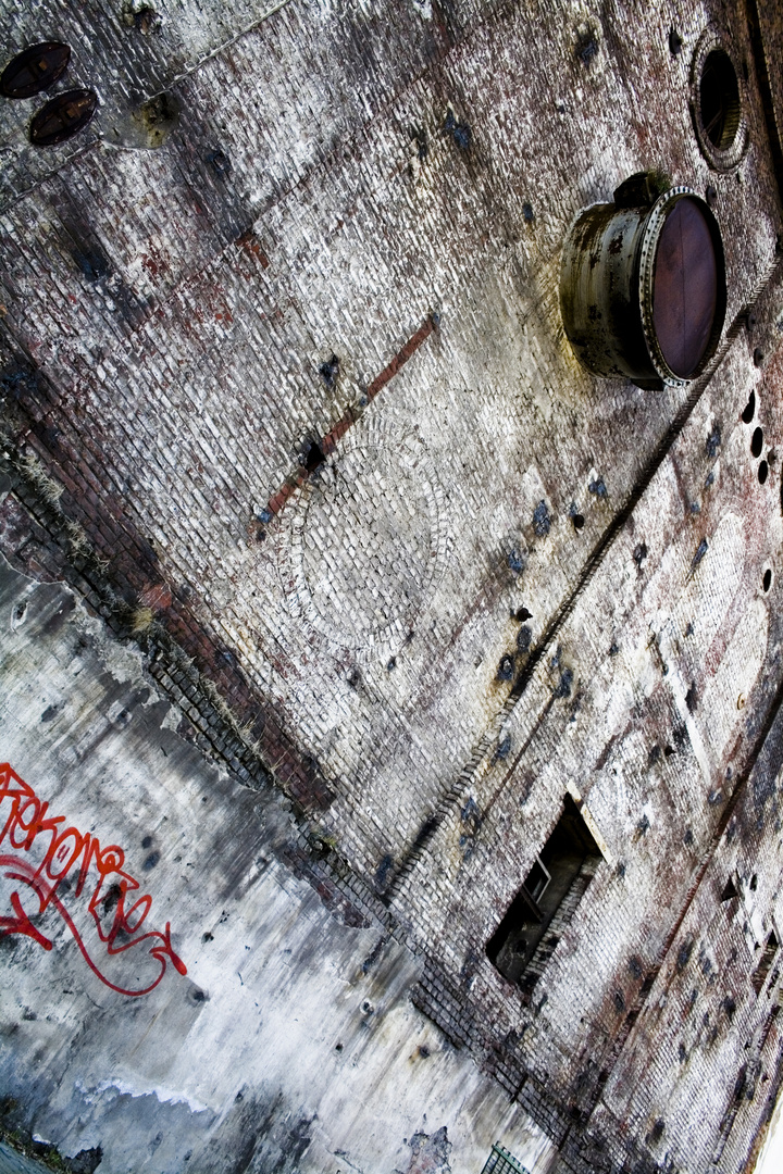 Einsame Wand im Westpark Bochum