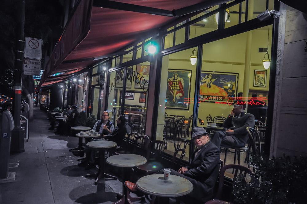 einsamer Abendausklang in San Francisco