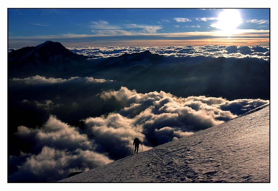 Einsamer Bergsteiger