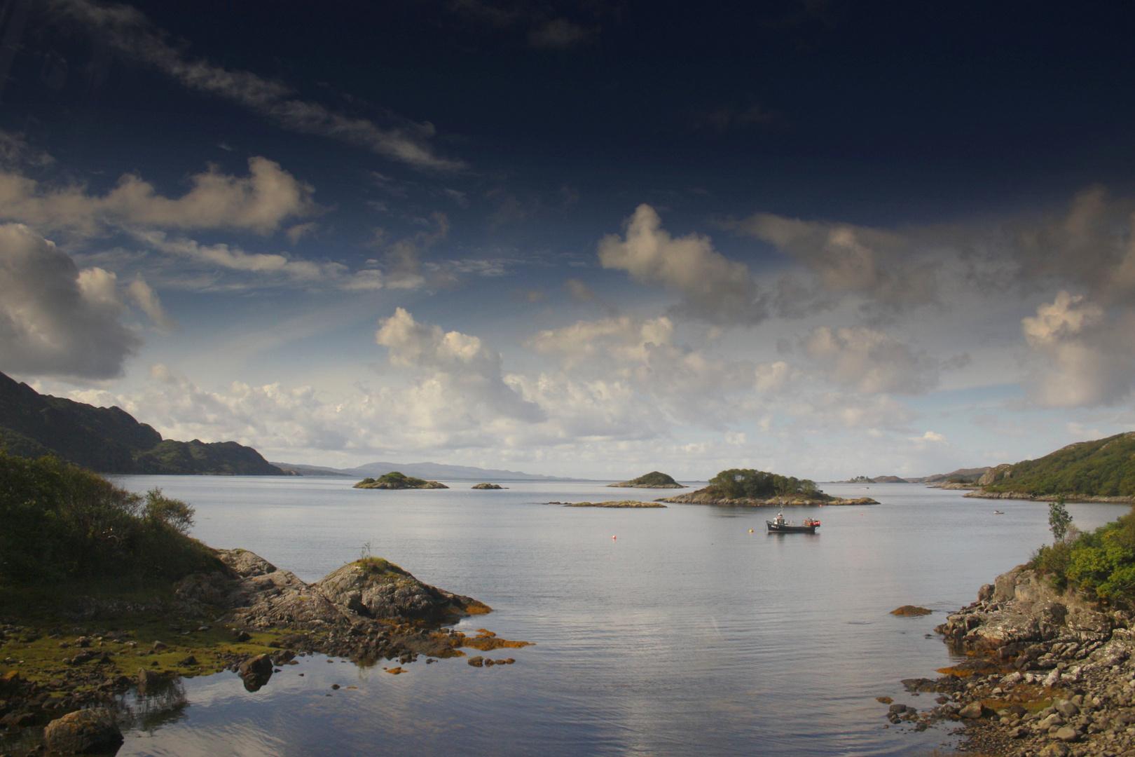 Einsamer Fischer-Schottland