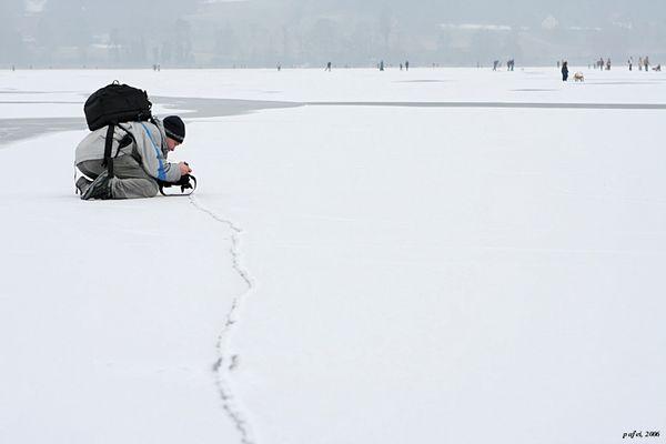 Einsamer Fotograf auf dem Greifensee