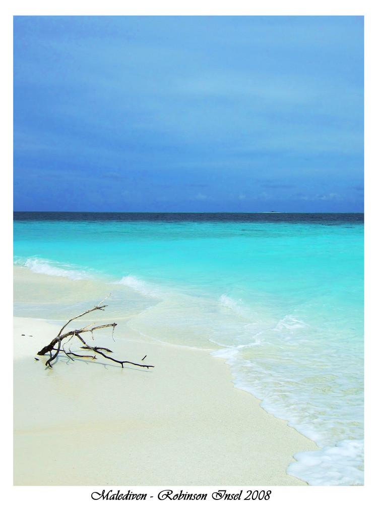 Einsamer Malediven-Strand