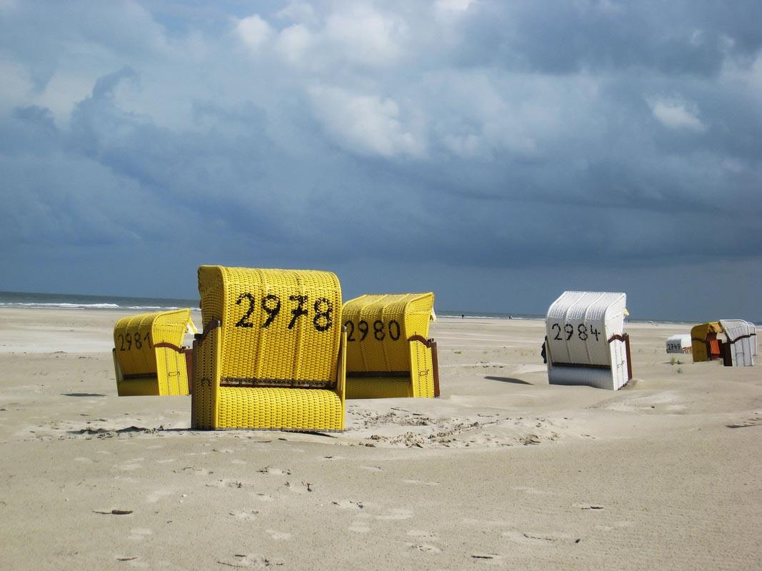 Einsamer Strand von Juist