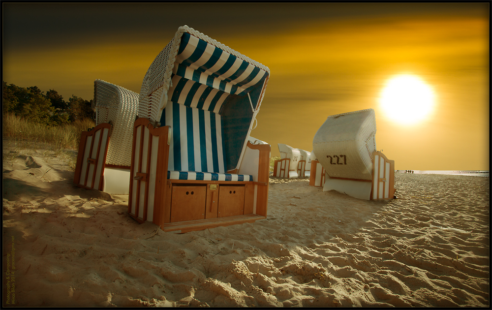 einsamer Strandurlaub