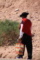 Einsamer Wanderer im Canyon de Atuel