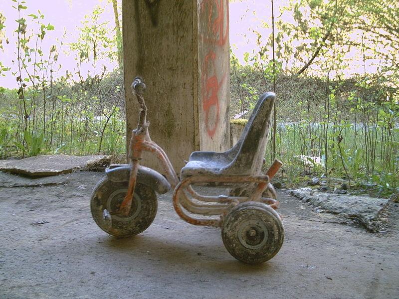 Einsames Dreirad