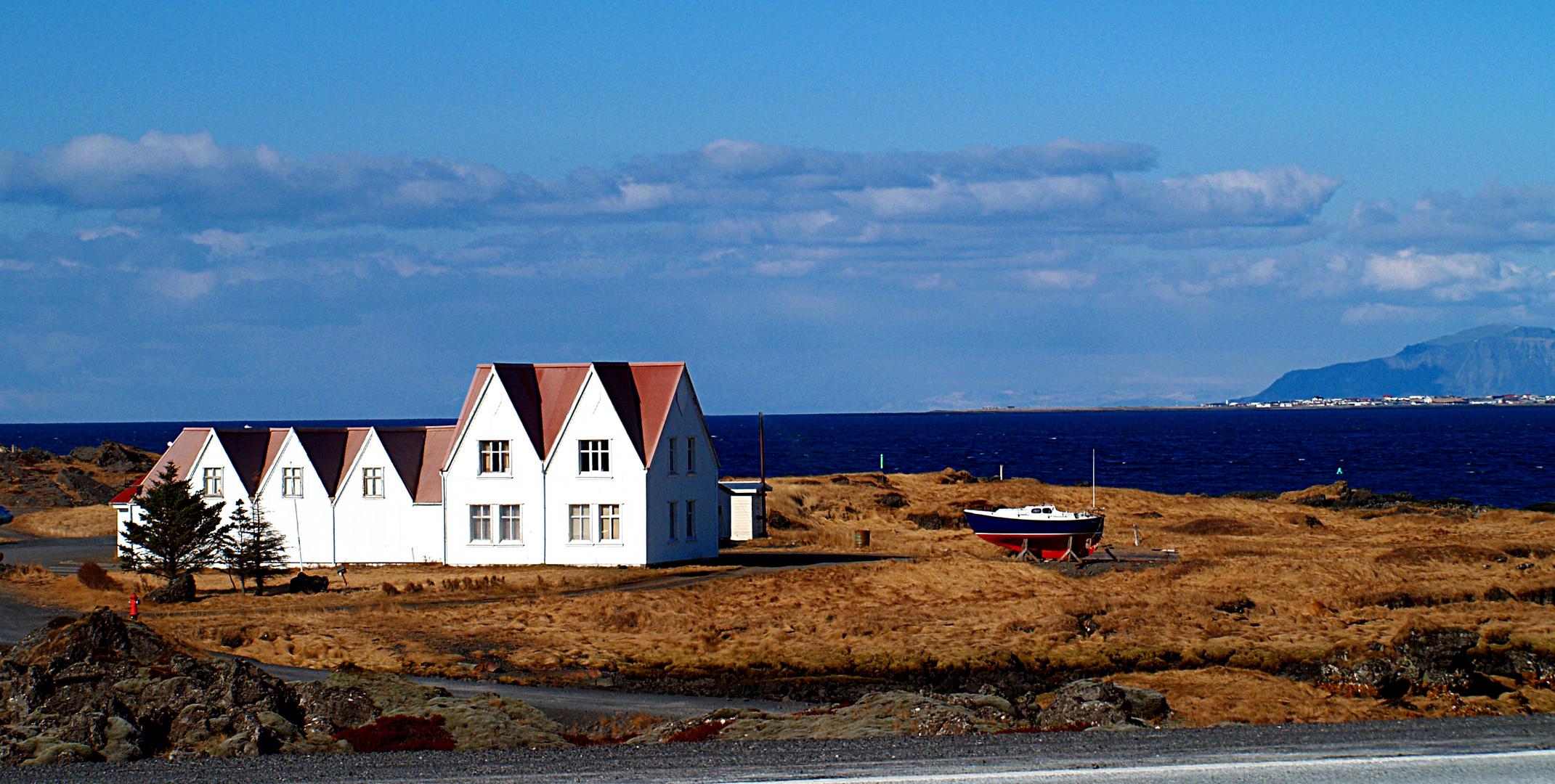 Einsames Haus in Island