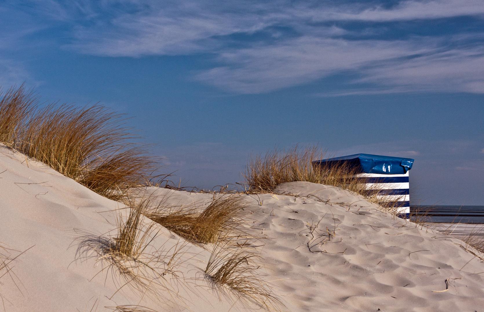 einsames Strandzelt