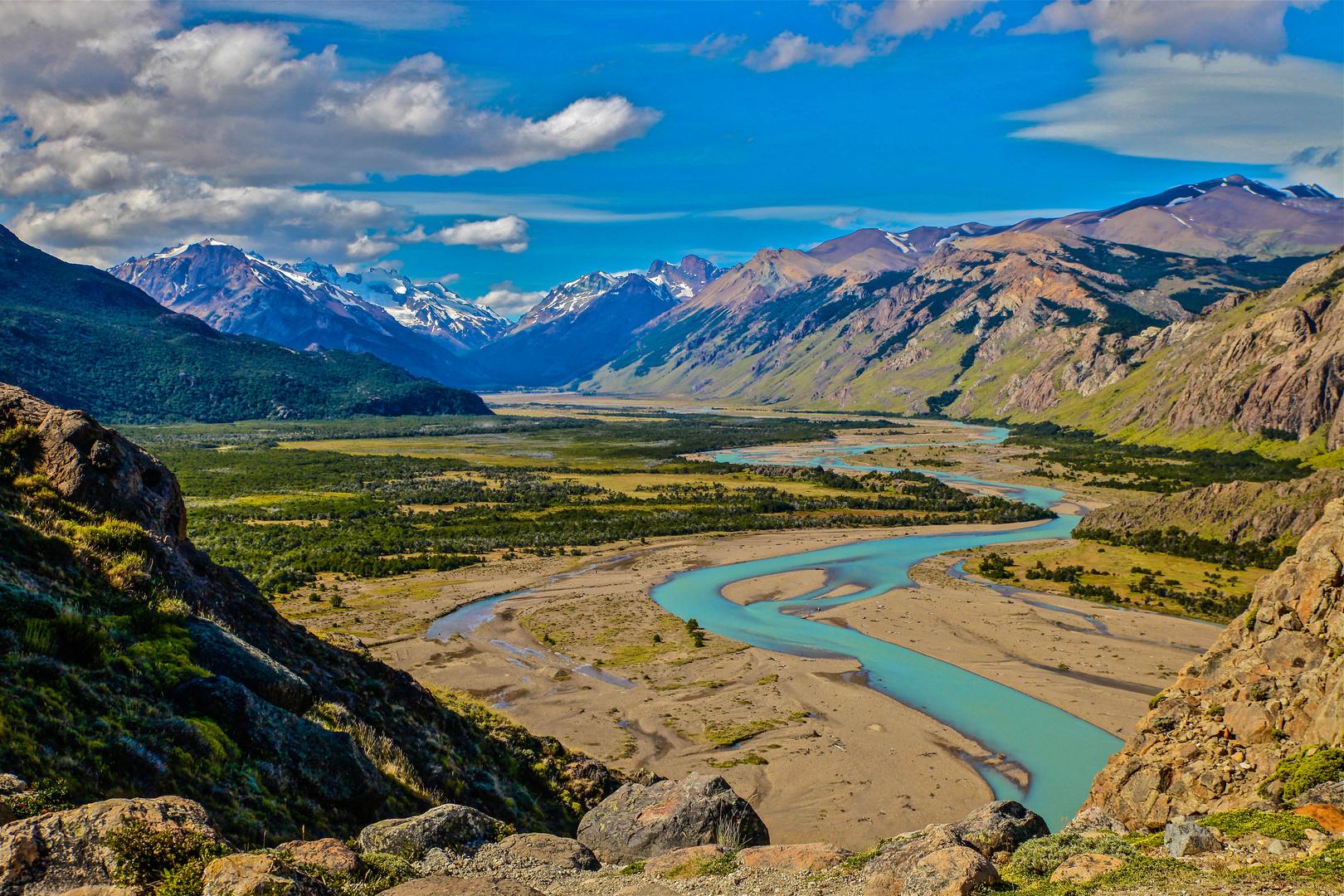 Einsames Tal in Patagonien