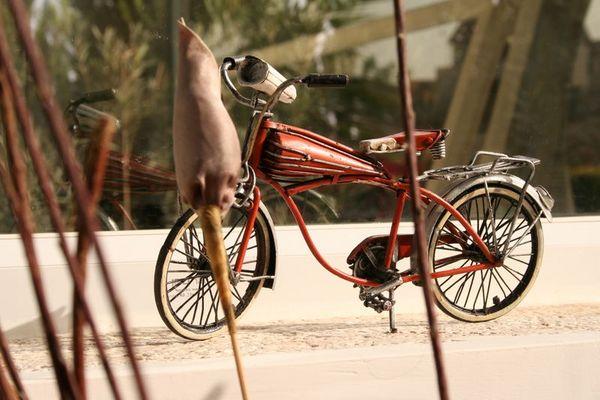 einsames Zweirad