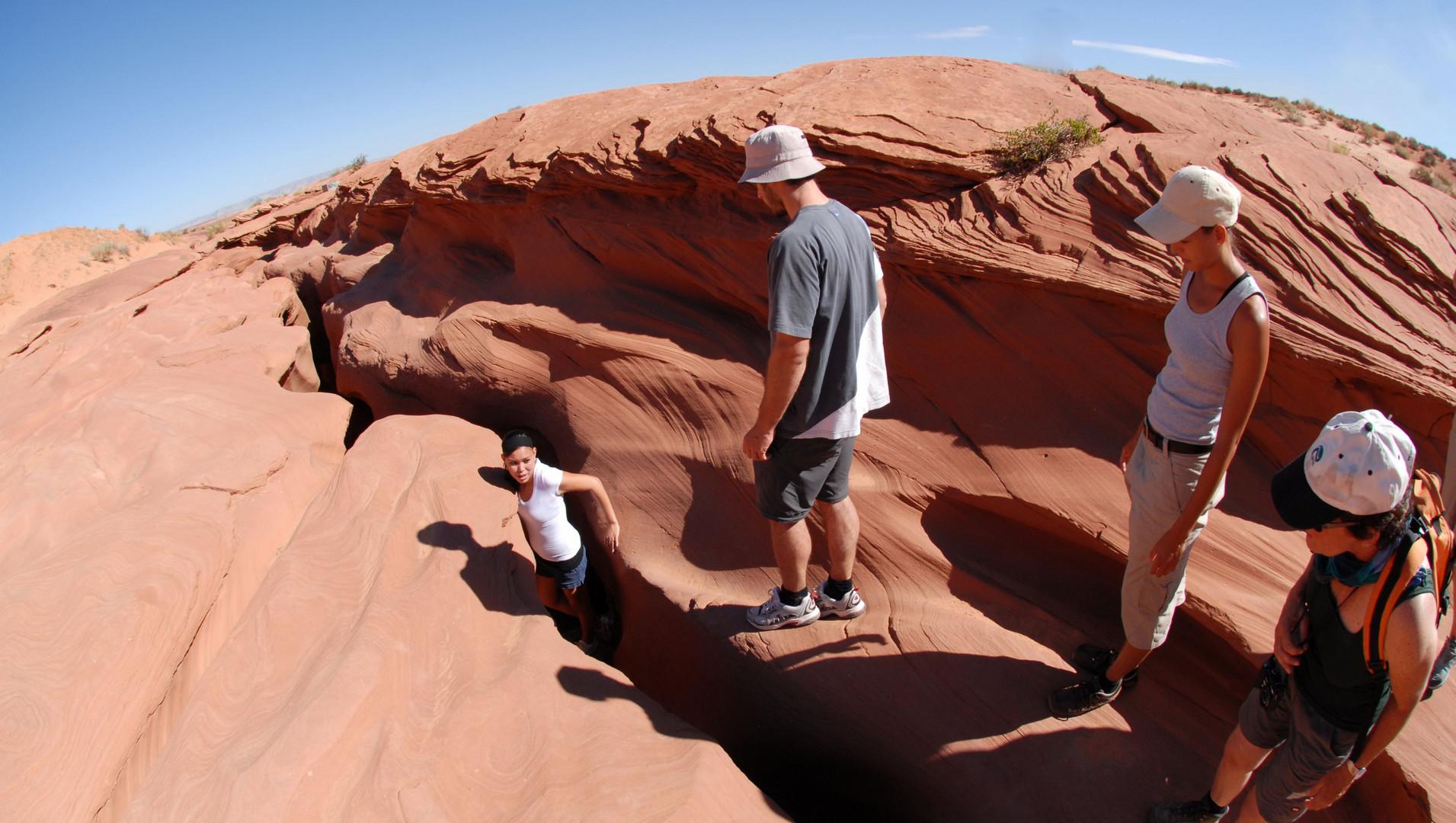 Einstieg Lower Antelope Canyon