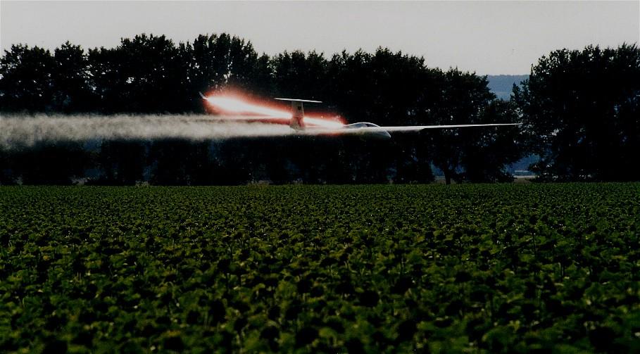 Eintritt in die Erdatmosphäre mit einem Segelflugzeug