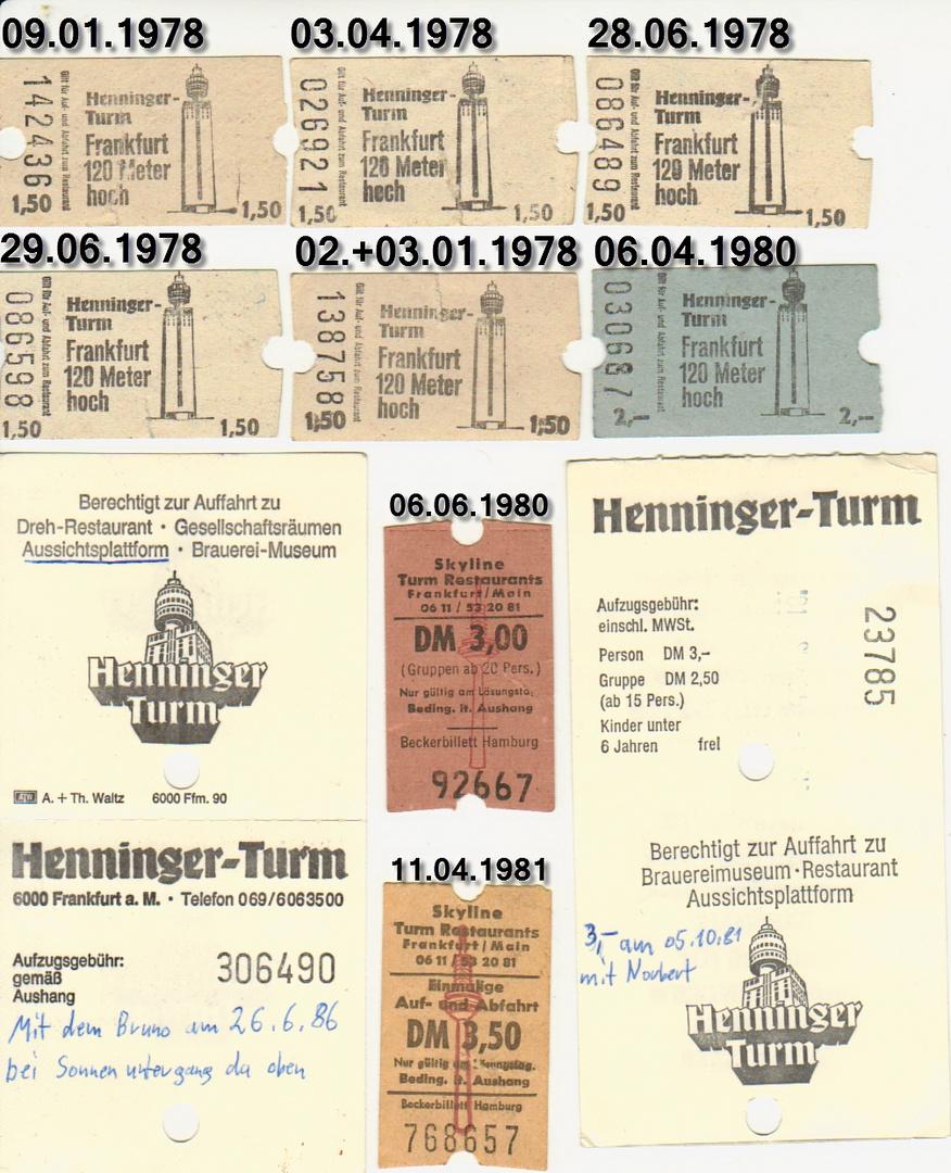 Eintrittskarten der Vergangenheit