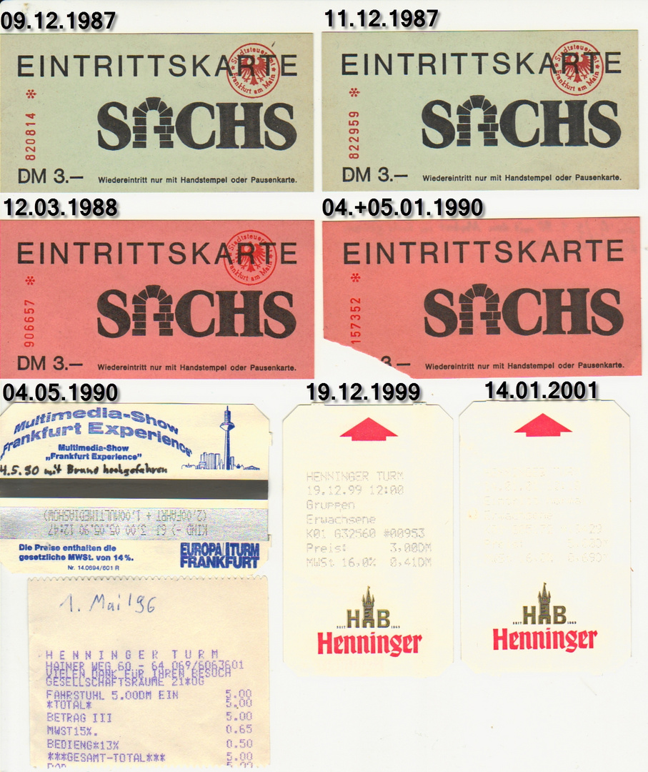 Eintrittskarten (erster Teil)