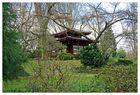 einziges Haus/ Tempel (?) im japanischen Garten in Leverkusen