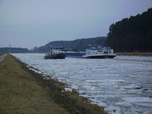 Eis am Rhein - Main - Donau Kanal