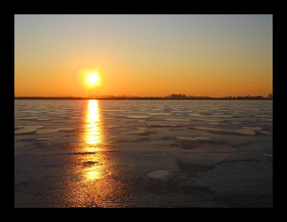 Eis auf dem Giethoornsche Meer