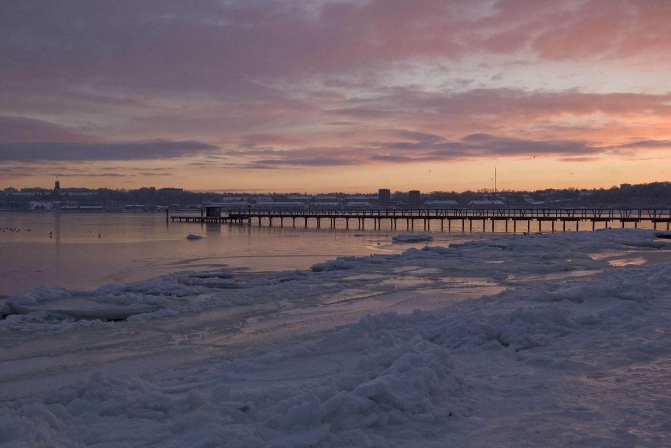 Eis auf der Flensburger Förde