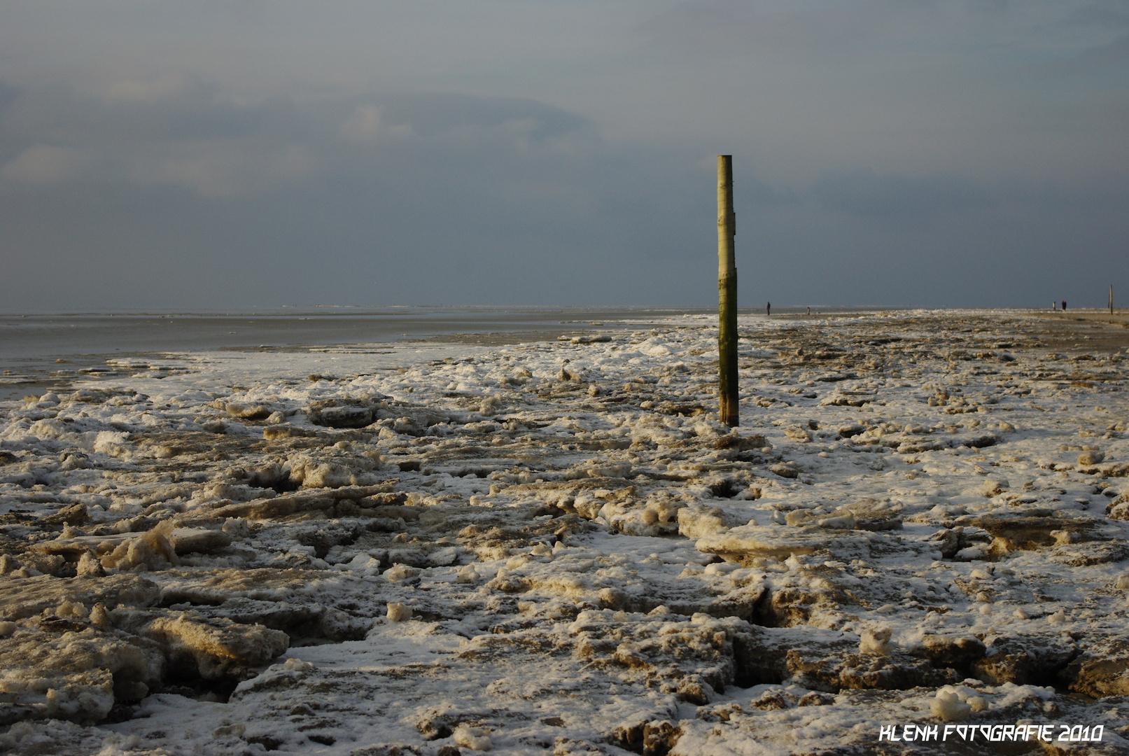 Eis auf Sankt Peter Ording Winter 2010
