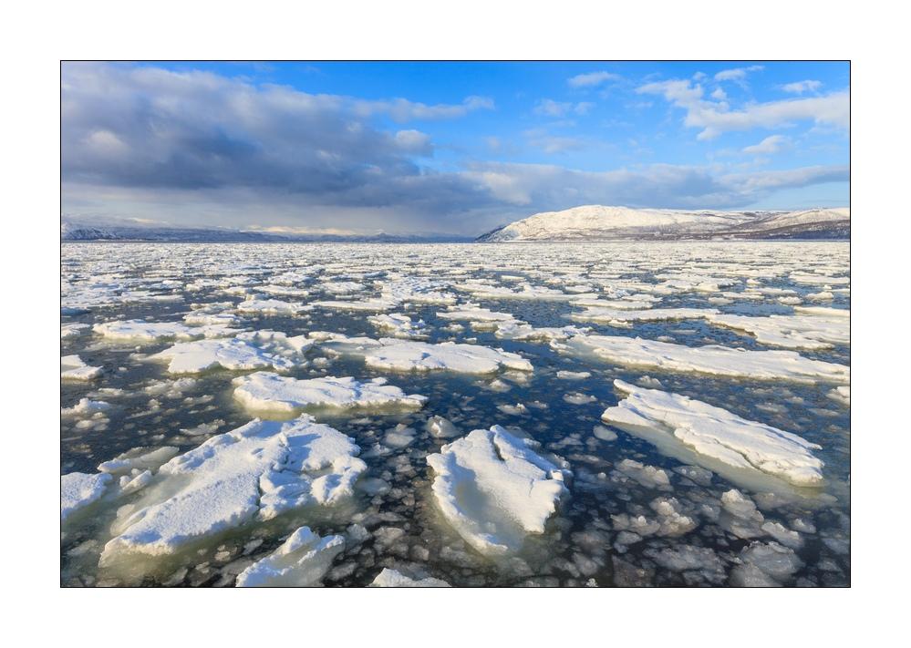 Eis im Fjord