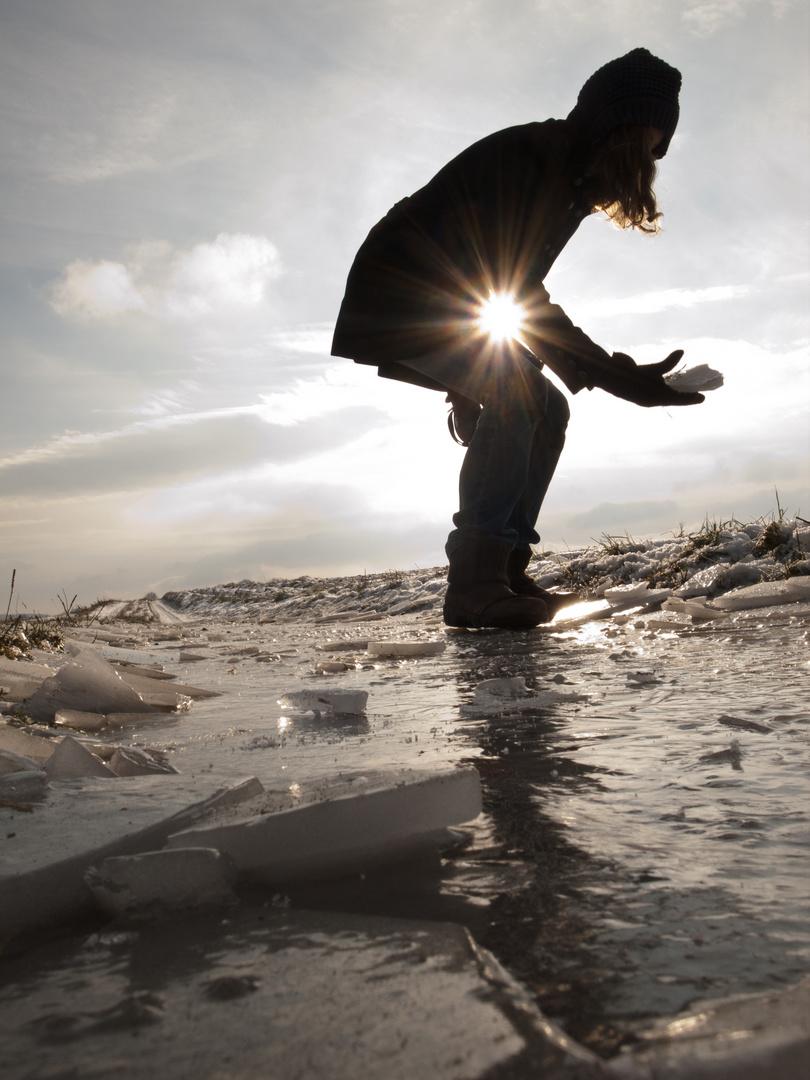 Eis unter den Füßen, Sonne im Bauch.