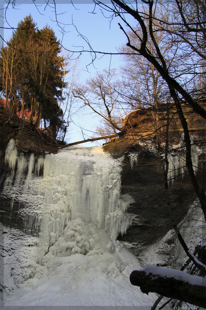 Eis-Wasserfall in Zillhausen