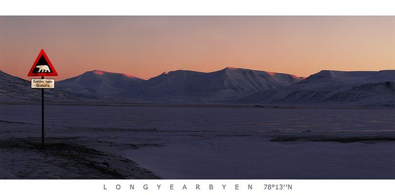 Eisbärwarnung Longyearbyen (Spitzbergen)