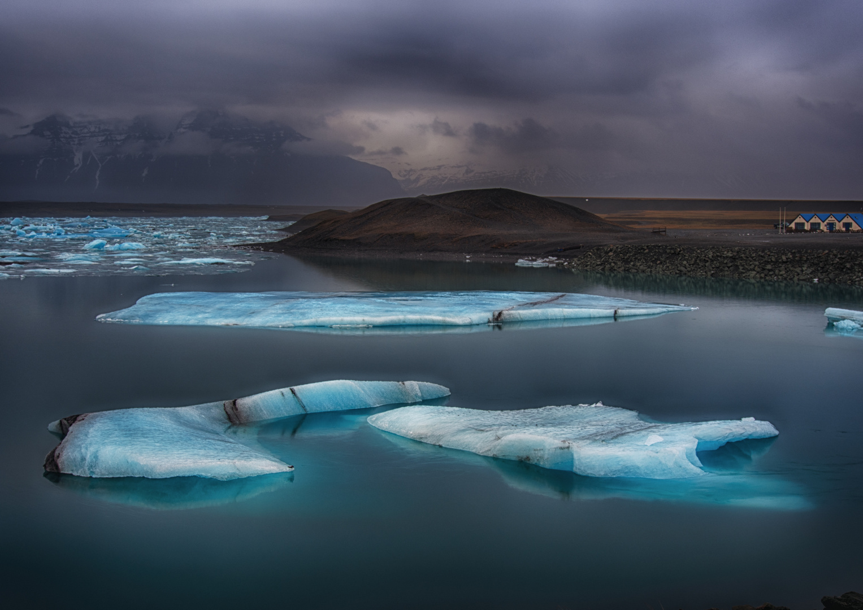 Eisberge im Jökulsarlon