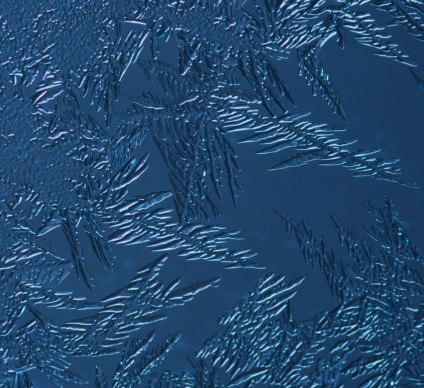 Eisblumen-Makro
