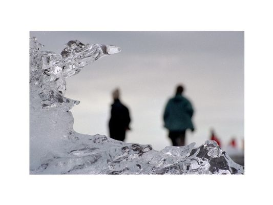 Eisbrocken am Jökulsarlon