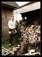 Eisen auf Holz
