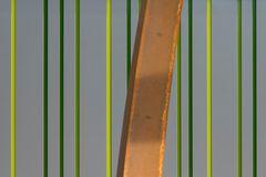 Eisen vor grünen Streifen