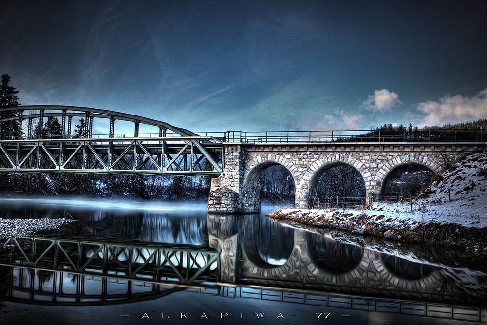 Eisenbahnbrücke bei Pflach