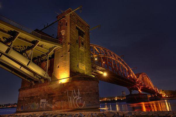 Eisenbahnbrücke Köln Poll 2
