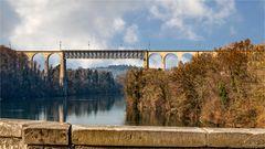 Eisenbahnbrücke über den Rhein bei Eglisau ZH