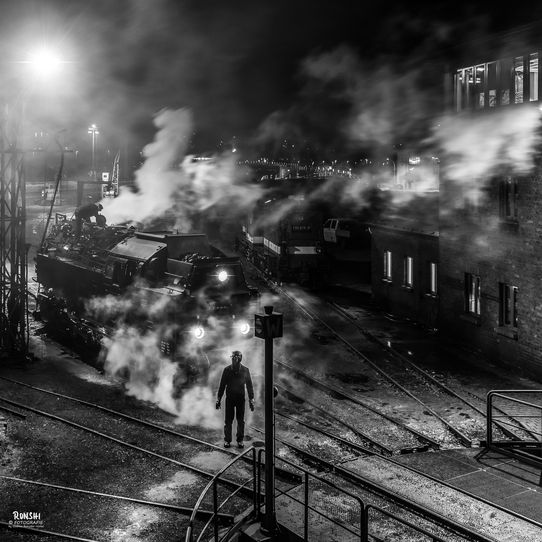 Eisenbahner bei der Nachtarbeit - 05.03.2018
