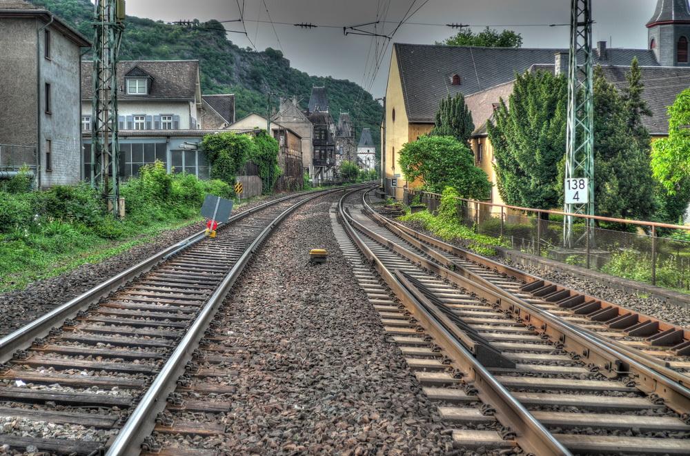 Eisenbahnspuren