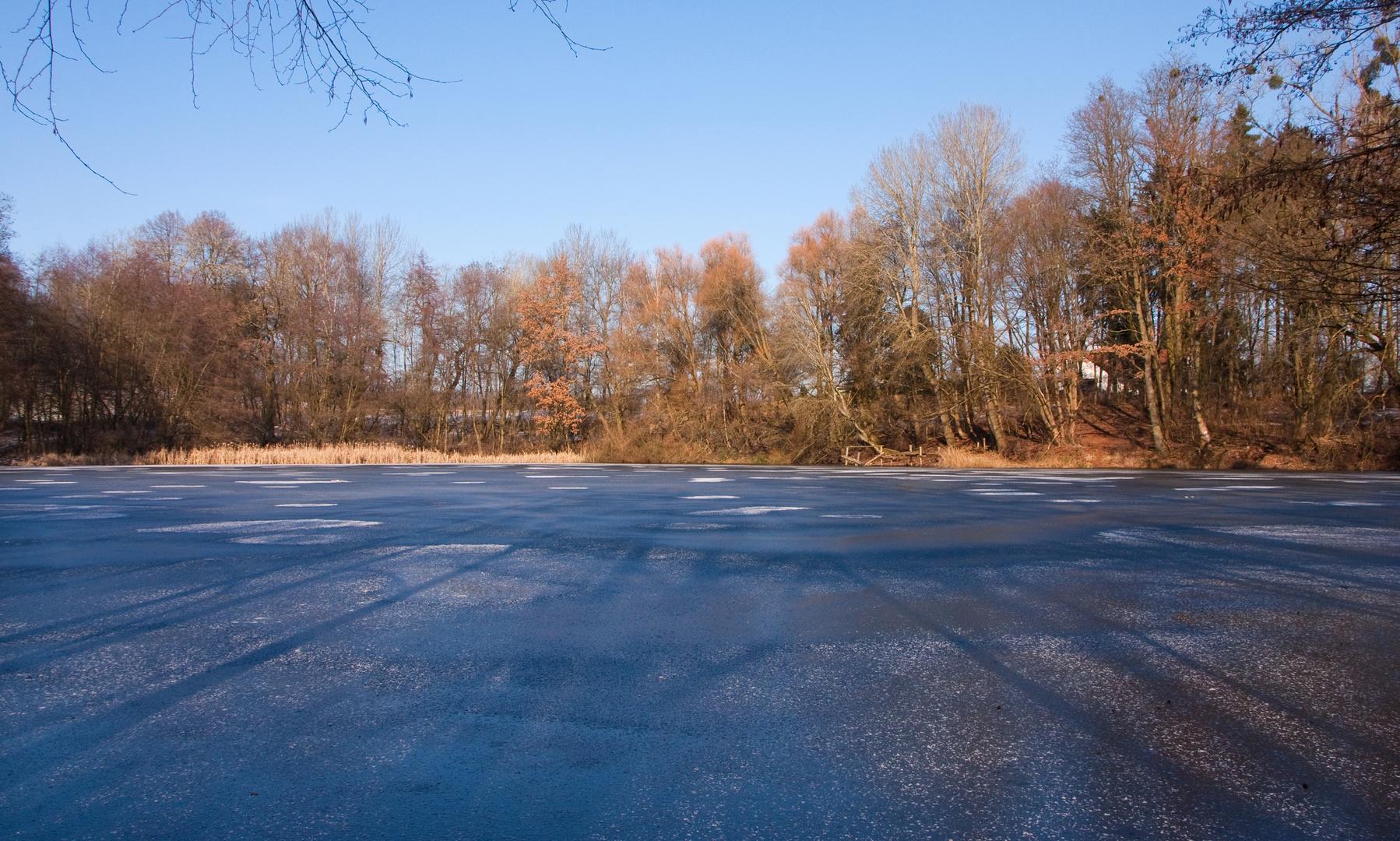Eisig und kalt - am Bergwerksteich - die 2.)