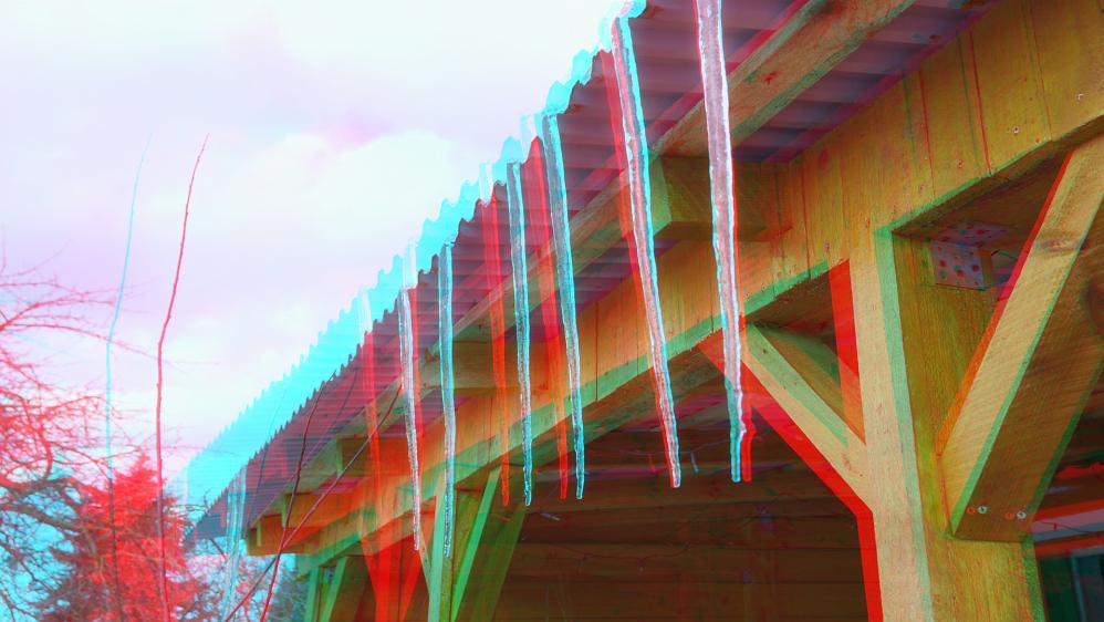 Eisige Eiszapfen -3D-