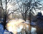 Eisige Kälte am Morgen....an der Bühler in Bühlertann.
