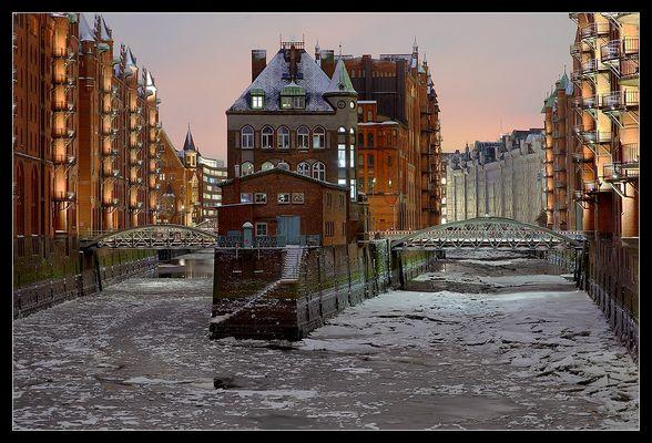 Eisige Speicherstadt