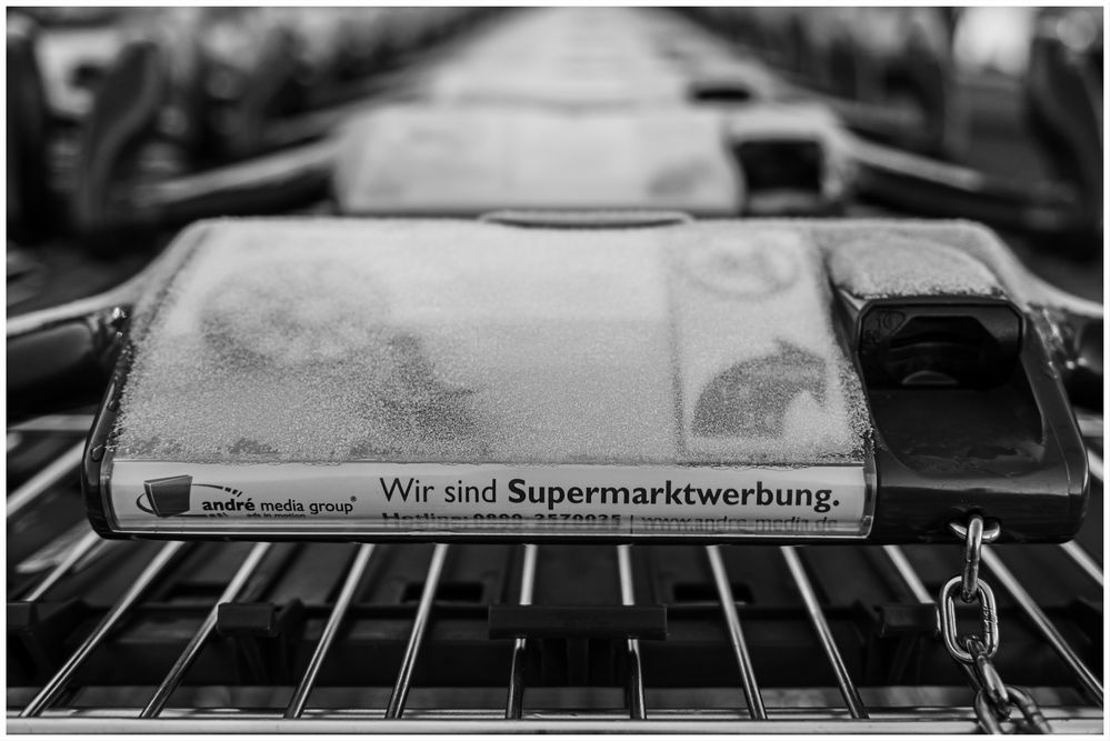 Eisige Supermarktwerbung