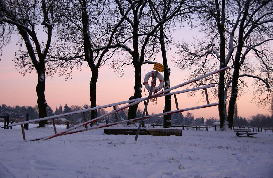 Eisiger Glienicker See, 06.01.09 – 02